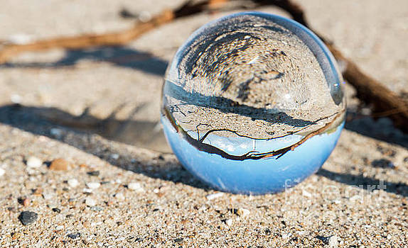 Glass Sphere With Hellevoetsluis Lighthouse by Compuinfoto