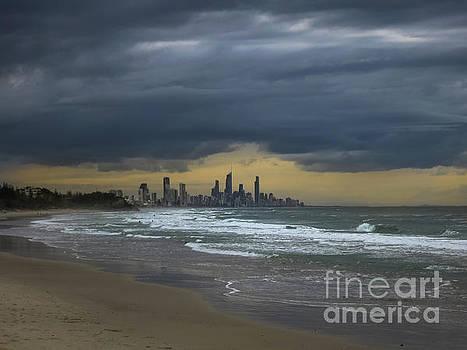 Gold Coast Beach by Barbara Dudzinska