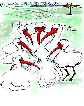 Gossiping ibis by Carol Allen Anfinsen