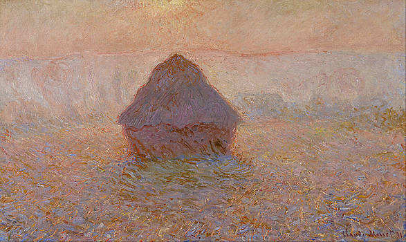 Grainstack, Sun in the Mist by Claude Monet