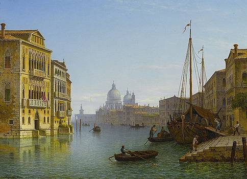 Grand Canal With Views Of Santa Maria Della Salute by Carl Morgenstern