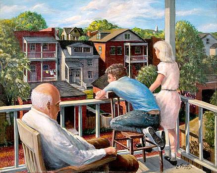 Grandpa's Back Porch by Edward Farber