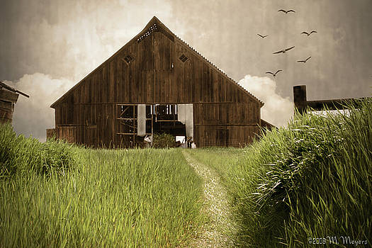 Grassland Barn by Melisa Meyers