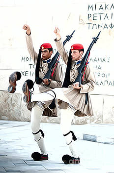 Greek guards by Andrew Michael