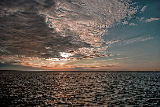 Gulf Of Mexico Sunrise by Robert Brown