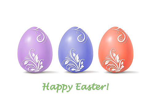 Happy Easter greeting card by Mariola Szeliga