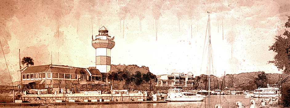 Harbour Town Sepia by Wally Smith