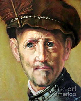 head study after Rembrandt by Hidemi Tada