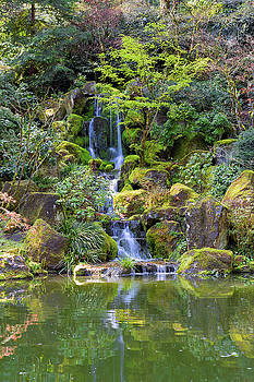 Heavenly Falls in Spring by David Gn