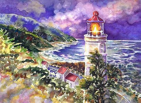 Heceta Head lighthouse by Ann Nicholson