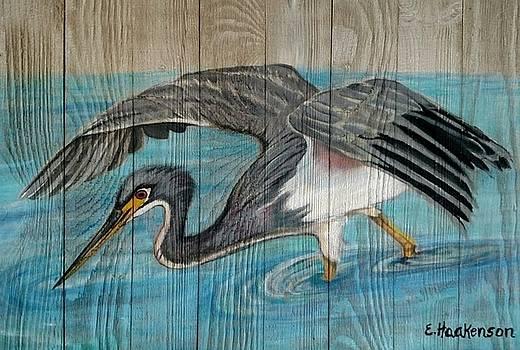 Heron on the Hunt by Elaine Haakenson
