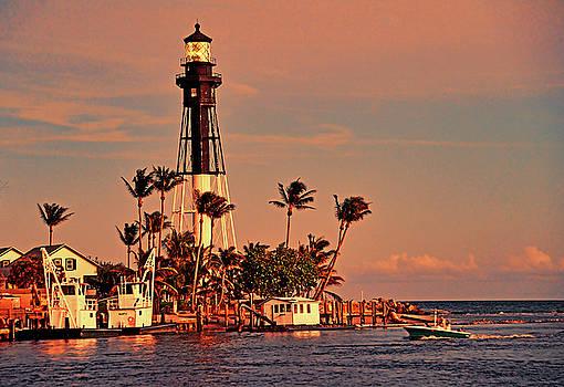 Hillsboro Lighthouse at Sunset by Allan Einhorn