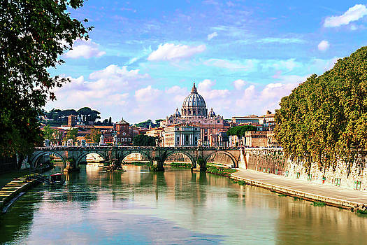 Historical Rome on a Sunny summer day by George Westermak