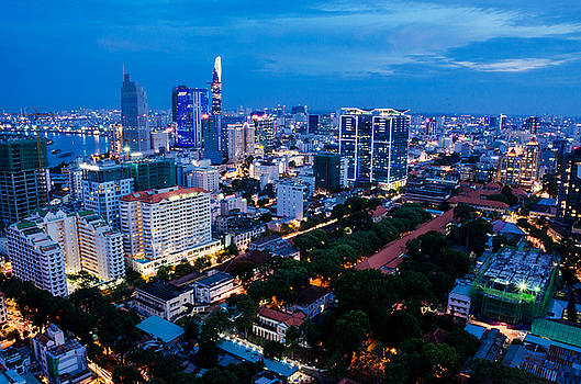 Ho Chi Minh city Night by Tran Minh Quan