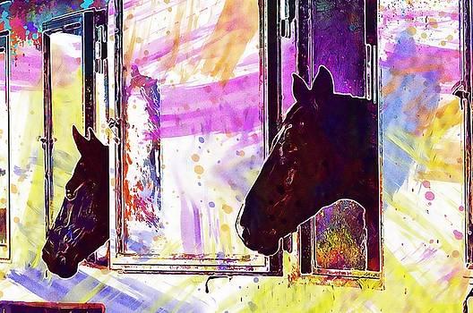 Horse Animal Funny Ride Reiterhof  by PixBreak Art