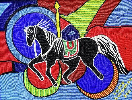 Horse at race by Lanre Buraimoh