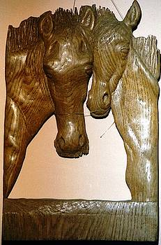 Horses by Wall sculpture artist Ahmed Shalaby