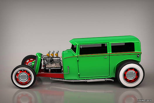 Hot Rod Sedan by Ken Morris