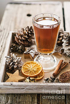 Hot winter spiced tea by Viktor Pravdica