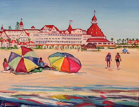 Hotel Del Coronado Summertime by Robert Gerdes
