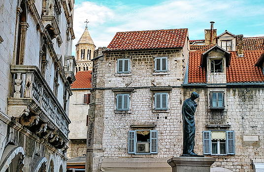 Elenarts - Elena Duvernay photo - Houses and Cathedral of Saint Domnius, Dujam, Duje, bell tower Old town, Split, Croatia
