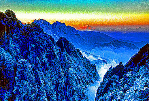 Dennis Cox ChinaStock - Huangshan Winter Dawn