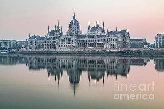 Hungarian Parliament in the morning by Travel and Destinations - By Mike Clegg