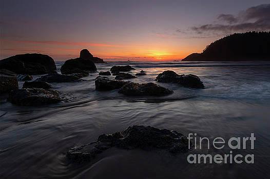Indian Beach Sundown by Mike Dawson