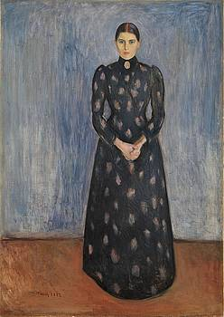Inger In Black And Violet by Edvard Munch