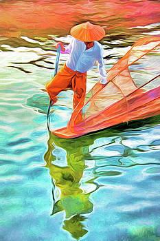 Dennis Cox - Inle Lake Leg-Rower