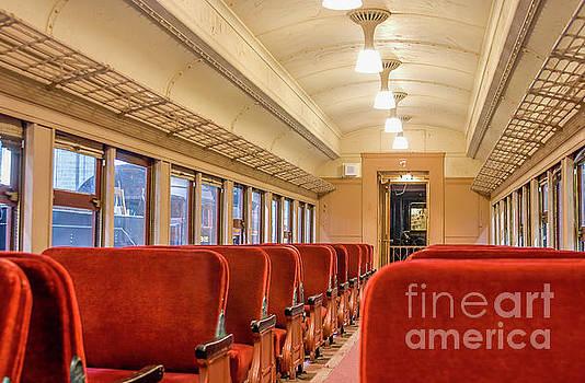 Patricia Hofmeester - Interior of a Pullman train of 1930