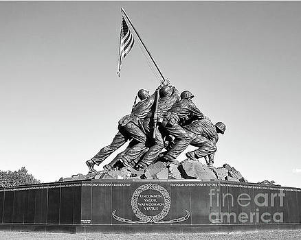 Iwo Jima Marine Corps War Memorial Washington DC Arlington Virginia by Kimberly Blom-Roemer