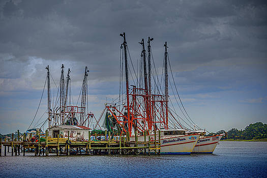 Jacksonville Shrimp Boat Dock by Barry Jones