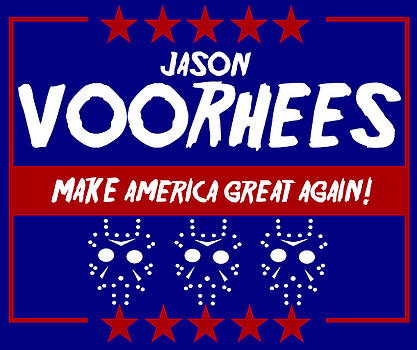 Kyle J West - Jason Voorhees Presidential Sign