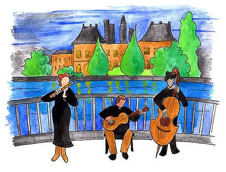 Anna Elkins - Jazz Trio on Pont Ile Saint Louis