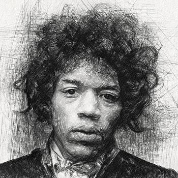 Jimi Hendrix by Taylan Apukovska