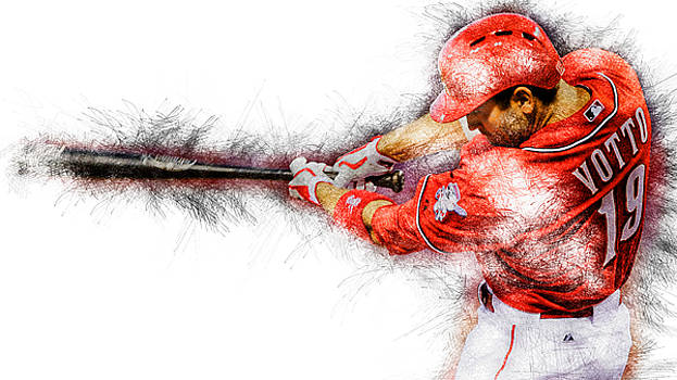 Joey Votto by Marvin Blaine