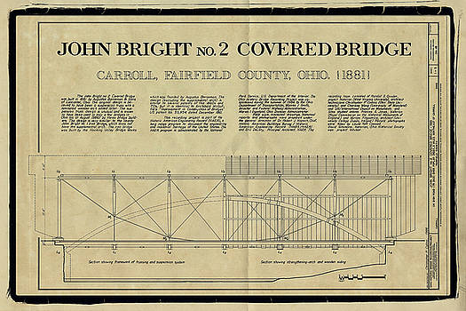 John Bright Covered Bridge by Jack R Perry