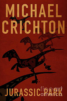 Jurassic Park by Michael Crichton Minimalist Movie Poster Book C by Nishanth Gopinathan