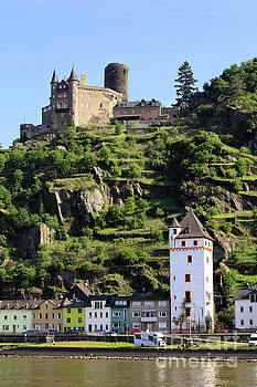 Katz Castle above St Goarshausen Germany by Louise Heusinkveld