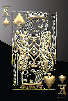 Serge Averbukh - King of Spades in Gold on Black
