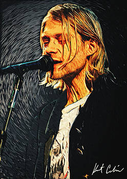 Kurt Cobain by Taylan Apukovska