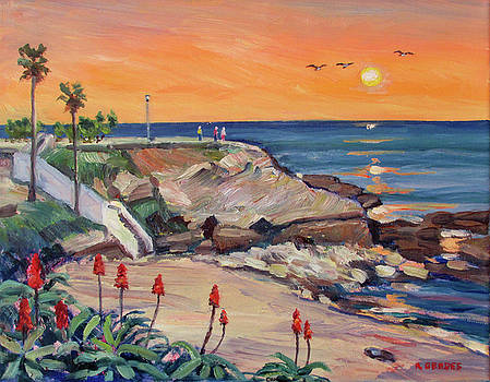 La Jolla Cove at Sunset by Robert Gerdes