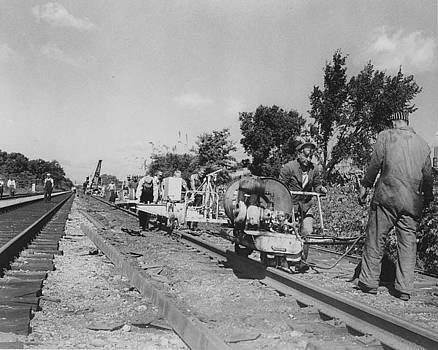 Chicago and North Western Historical Society - Laborers Working on Track