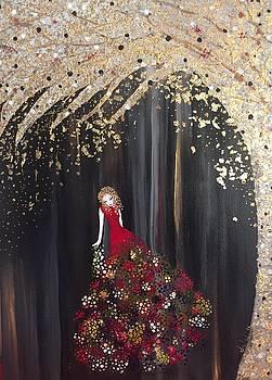 Lady in Red by Dalal Farah Baird