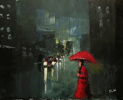 Lady In Red by Justin Lee Williams