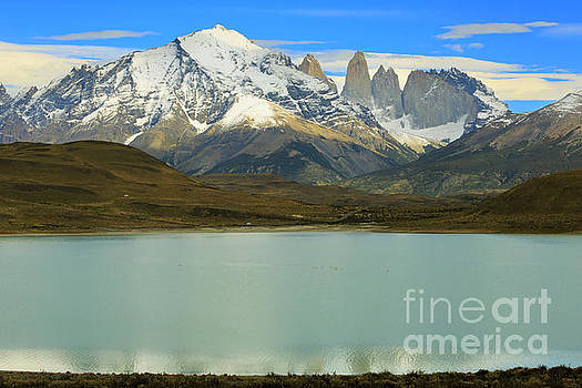 Laguna Amarga and the Torres del Paine in Patagonia Chile by Louise Heusinkveld
