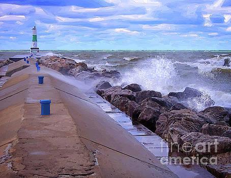 Lake Michigan Storm by Phil Perkins