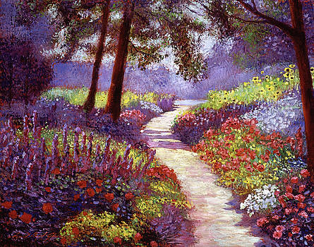 Lakeside Garden by David Lloyd Glover