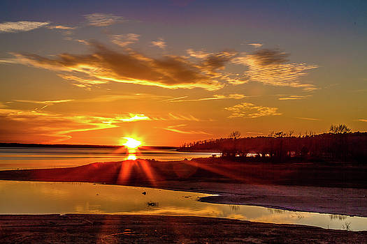 Lakeside Sunset by Barry Jones